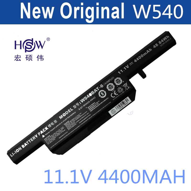 HSW battery For Clevo W155u W540eu W54eu W550 W550eu W55eu W540 W540bat-6 Licr19/66-2 6-87-w540s-4w41 bateria w540bat 6 6 87 w540s 4271 6 87 w540s 4w41 laptop battery for clevo w540eu w550su eu m1519 ssd v2 ldlc aurore bb5 b8 2 h1 slim