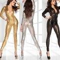 2017 Nova lingerie sexy hot 3 cores oco out neck zipper couro deep_v clubclub clother sexy Pole dancing Lingerie erótica