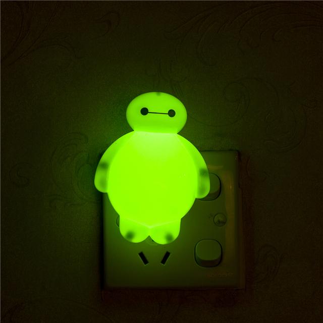 Novelty Night Light Baymax Big Hero 3W luminaria White Green Red Color lava lamp for children Bedroom Decorate luminaria de mesa