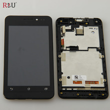 R & U тест хорошо 4.5 inch 845×480 жк-экран + сенсорный панель экрана планшета ассамблеи с рамкой Для ASUS Zenfone 4.5 A450CG