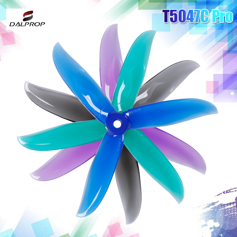 12Pair 24PCS Upgraded DALPROP CYCLONE <font><b>T5047C</b></font> <font><b>Pro</b></font> 5047 5x4.7x3 3-blade POPO Propeller CW CCW for RC Drone FPV Racing image