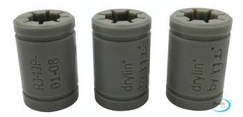 3 шт. IGUS твердый полимерный LM8UU подшипник 8 мм вал Drylin RJ4JP-01-08 для Anet Reprap Prusa i3 3D принтера