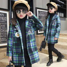 Girls Hoodies Winter Clothing Trench Fashion Cotton Kids Cartoon Jacket Child Autumn Coats Outerwear Dustcoat Children Clothes