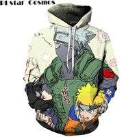 PLstar Cosmos The New hoodies sweatshirts NARUTO character pattern 3D printing sweatshirts hoodie Kakashi wood/Naruto jumper