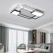 أضواء الثريا لغرفة المعيشة غرفة نوم مستطيل الألومنيوم ثريا تركب بالسقف أضواء Lustres الثريا الحديثة مع البعيد