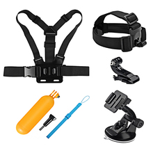 For GoPro Accessories Set Suction Cup with Chest Head Strap Float Grip Mount for Go Pro Hero 5 4 3 Xiaomi Yi 4K SJCAM SJ4000 kit