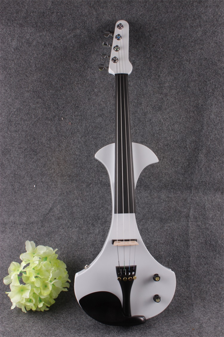 #17801# New 4 string 4/4 Electric violin Solid wood hand add fret electric violin Guitar neck violin 6 string electric violin new 4 4 flame guitar shape solid wood powerful sound6 611