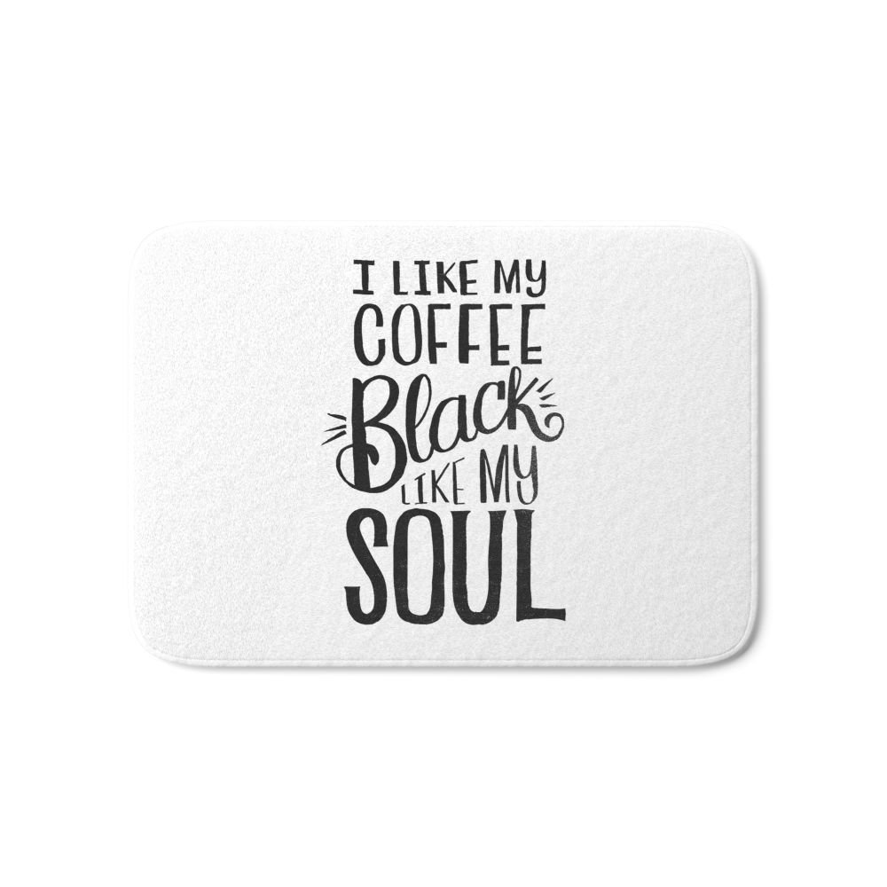 I LIKE MY COFFEE BLACK LIKE MY SOUL Bath Mat 17 x 24 Rugs Flannel Door Mats Waterproof K ...
