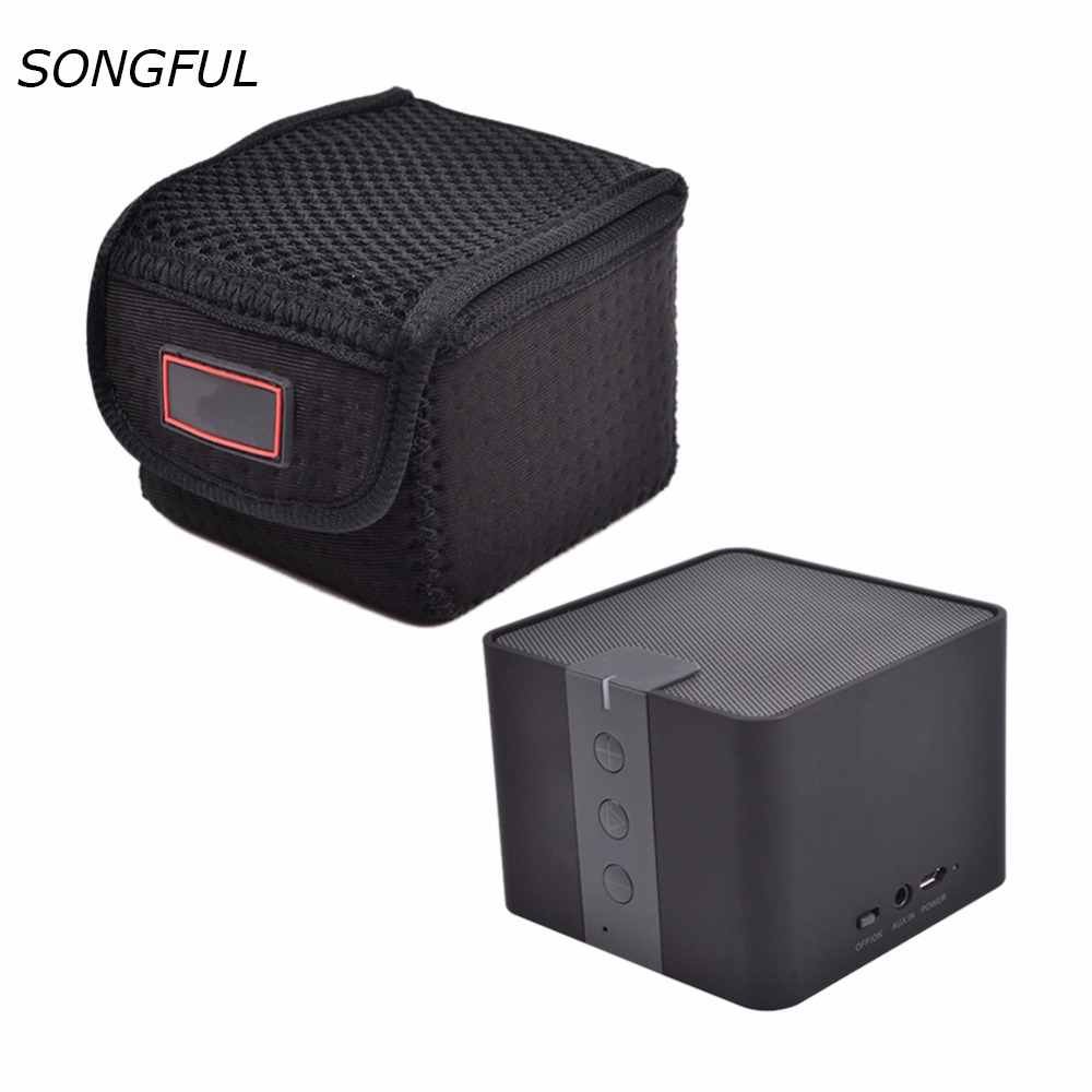 Travel Neoprene Wireless Bluetooth Speaker Protective Case For ANKER 4.0 CLASSIC Speakers Portable Bag With Carabiner Buckle Box