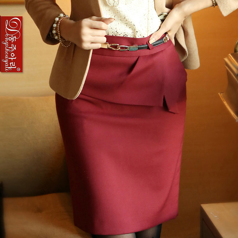 2016 women's spring elegant pencil skirts lady's all-match bust female slim solid formal short waistband - Fashion and Romantic Store store