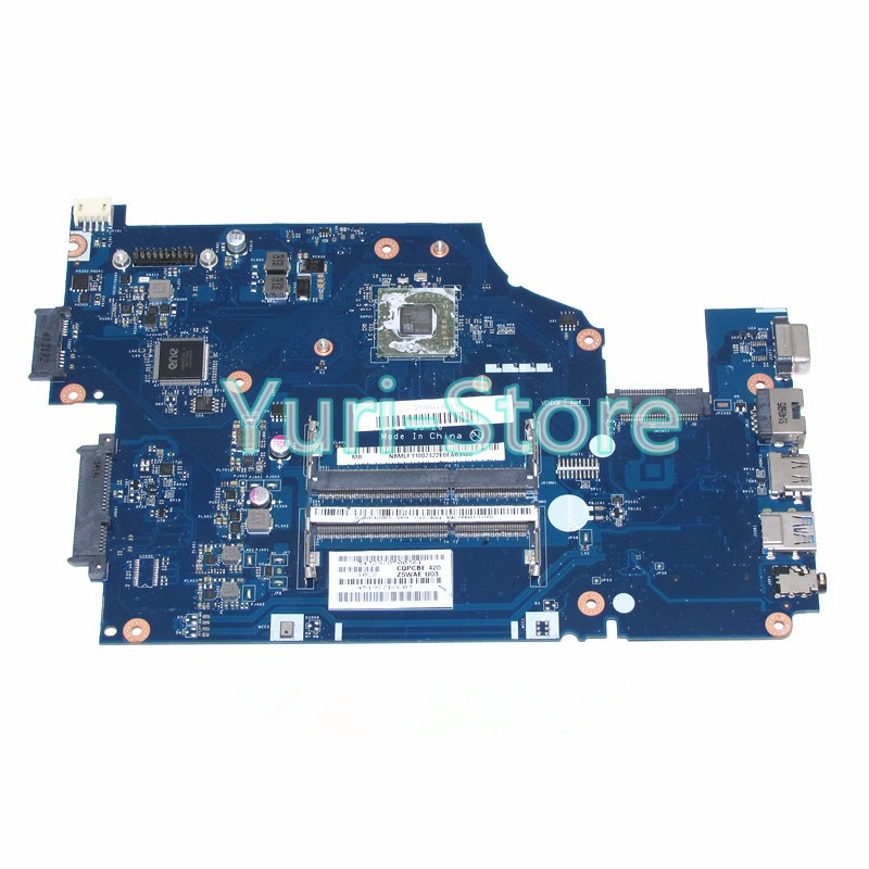 NOKOTION Z5WAE LA-B232P For Acer aspire E5-521 laptop NBMLF11001 NB.MLF11.001 Mainboard Full test works nokotion nbmlf11004 z5wae la b232p laptop motherboard for acer aspire e5 521 a6 6310 cpu nb mlf11 004 mainboard works