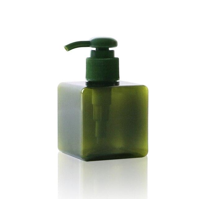 1 adet kare şişe 150ml losyon şişesi büyük kapasiteli presleme duş jeli şampuan şişesi kozmetik dağıtım şişe BQ024