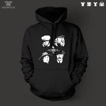 送料無料peaky blindersビニールデザイン男性プルオーバーパーカーフード付きsweatershirt 800グラムオーガニックコットン外フリース内部