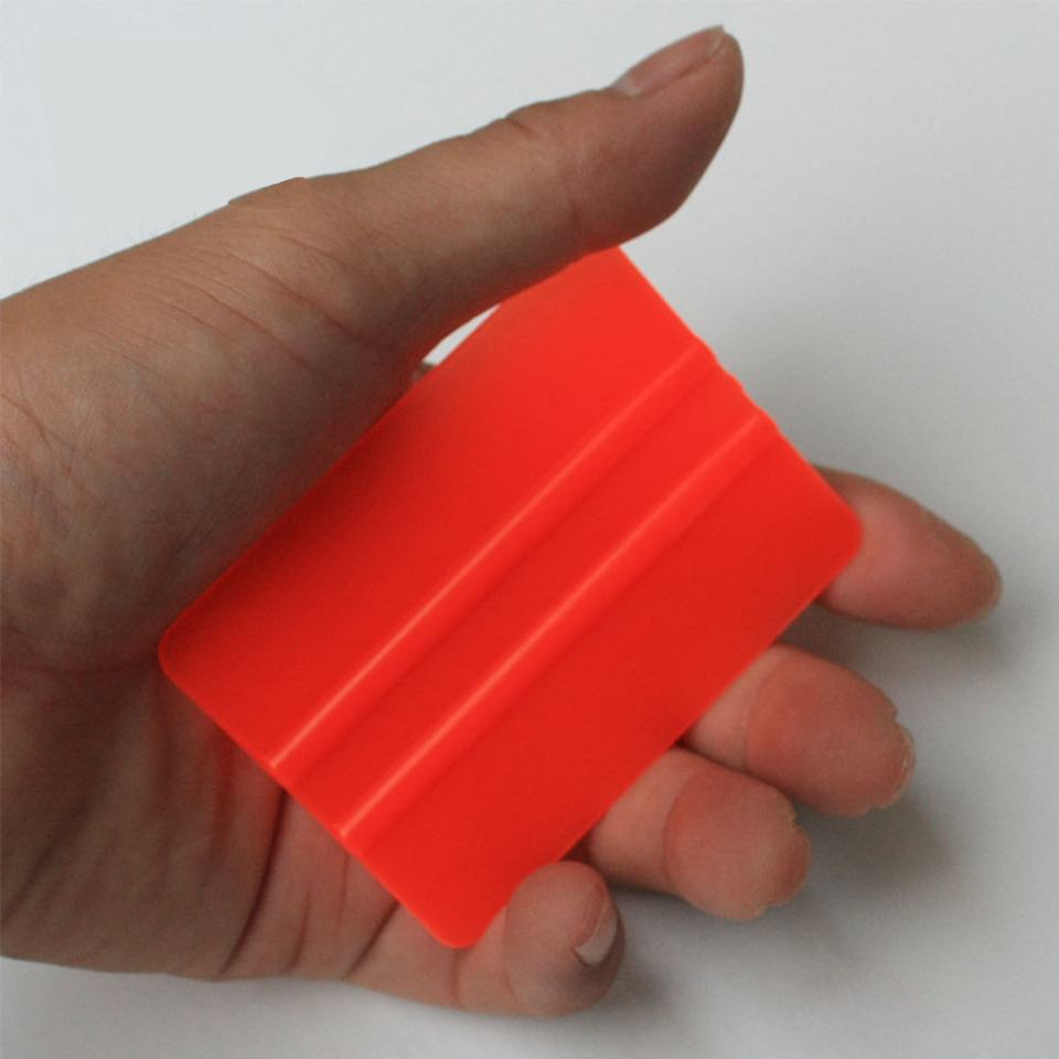 New Arrive Vinyl Applicators 7.5*5.5cm Car Tint Tools Bondo Cards Orange Mini Vinyl Squeegee C 72 Whole Sale-in Car Stickers from Automobiles & Motorcycles