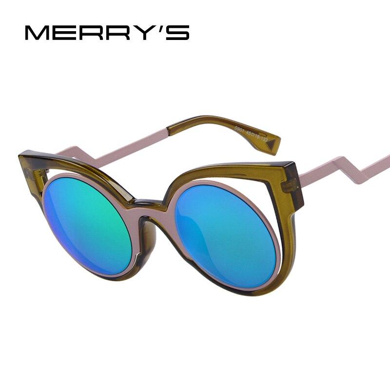 b64f23fe56e77 2016 Nova Moda Das Mulheres Do Vintage Cat Eye Sunglasses Dazzle Colour  estrela Espelho Redondo Óculos de sol UV400 Lente Olho de Gato óculos de  Armação de ...