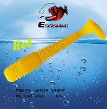 10pcs 4.8cm/0.7g Esfishing Lure New 2017 Vibro Worm 1.9″ Fishing Lure Soft Silicone Sea Fishing Tackles Silicone Bait Wobblers