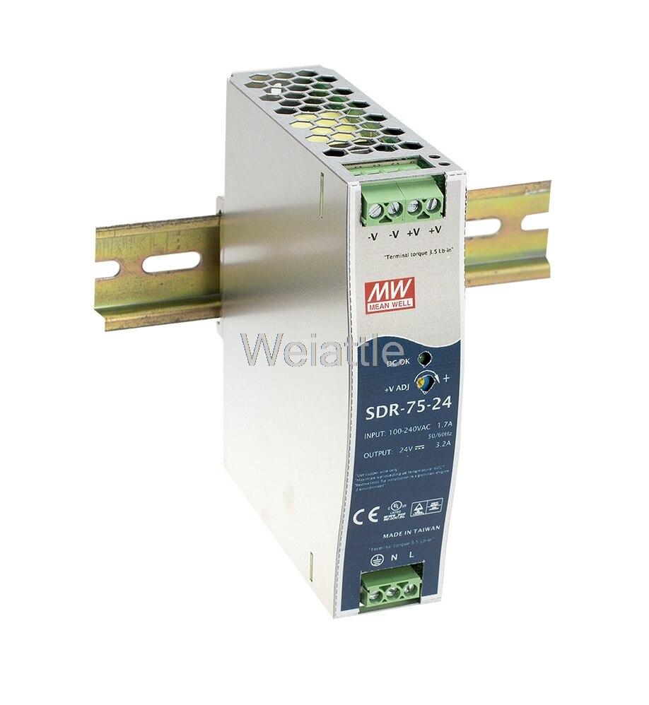 Moyenne bien original SDR-75-48 48 V 1.6A meanwell SDR-75 48 V 76.8 W simple sortie industrielle DIN RAIL avec fonction PFCMoyenne bien original SDR-75-48 48 V 1.6A meanwell SDR-75 48 V 76.8 W simple sortie industrielle DIN RAIL avec fonction PFC