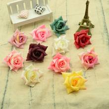 Silk roses head artificial flowers for decoration home wedding bridal accessories clearance diy a cap gifts box Christmas wreath(China)
