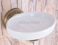 Antique Brass Bathroom Wall Mounted Ceramic Soap Dish Holder/ Bathroom Accessories lba260