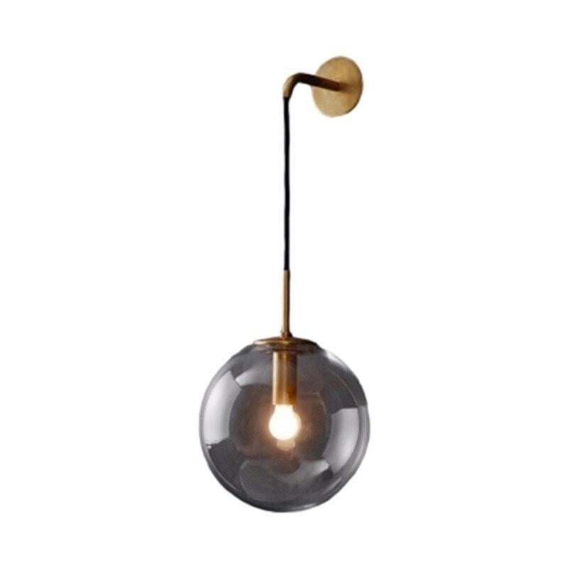 Vintage wall lamp LED glass ball coffe bar restaurant shop novel lighting wall decoration light fixture AV110-265V