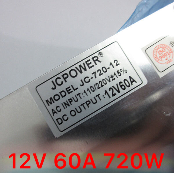 wholesale 12V 60A AC to DC Switch Power Supply Transformer for LED Strip AC110 240V for