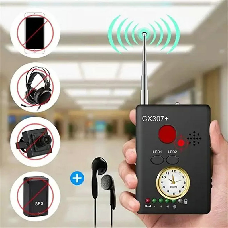 Free Shipping BONLOR CX007  Wireless FNR Full-frequency Detector GSM Device Finder Cam Laser Lens RF Signal Detector