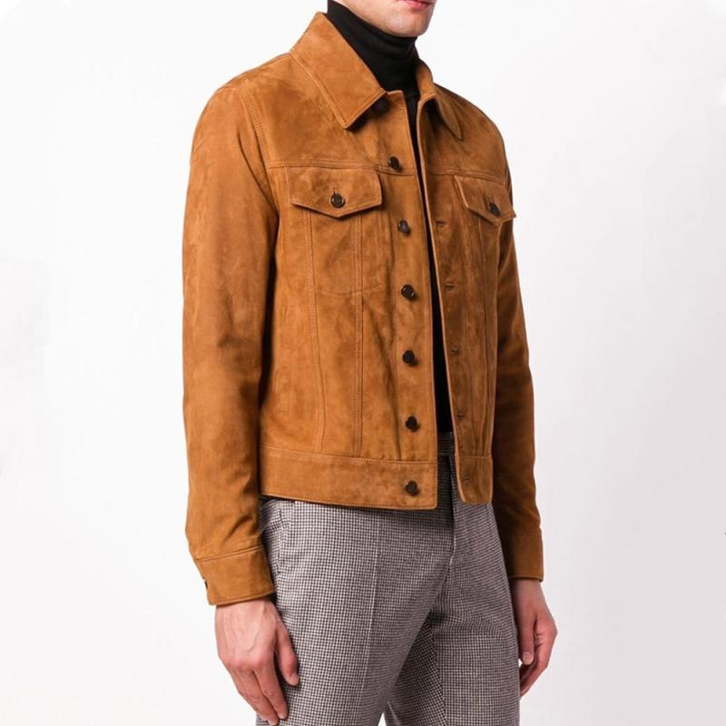 Free shipping.classic style,man Plus size soft cowhide Jacket,men's genuine Leather jacket.fashion young slim coat,cow suede Mens Plus Size
