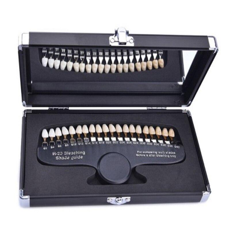 Livraison rapide gratuite nouveau guide d'ombre de blanchiment des dents 3D avec guide d'ombre de dents miroir
