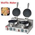 Электрическая вафельная печь с двойной головкой 185 мм машина для нагрева торта круглая вафельница горячая Распродажа печь FY-2