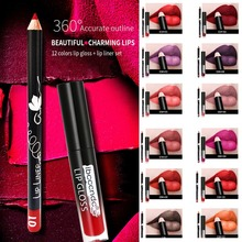 IBCCCNDC 12 Colors Long Lasting Liquid Lipstick Velvet Lips Pencil Matte Waterproof Sets Makeup Nude Lip Gloss