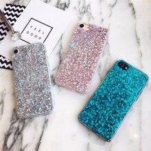 Bling Telefonu iphone kılıfları 8 Artı Kılıf Glitter Kristal TPU iphone için kılıf XS Max XR X 7 8 6 6 s Artı 5 s 5 SE Durumda K...