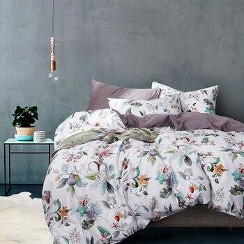 Tropical plants 4pcs comforter bedding sets Bed Sheet Duvet Cover Pillowcase Bedclothes egyptian cotton bed set