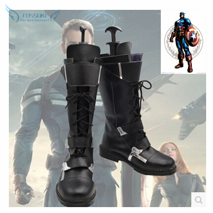 Captain America Winter Soldier Bucky James Buchanan Barnes Cosplay Shoes Boots Professional Handmade Perfect Custom For