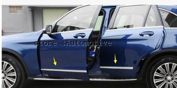 Chrome Door Body Molding Protector Plate Cover Trim For Mercedes X253 GLC Benz GLC200 GLC250 GLC300 2015 2016 2017 image