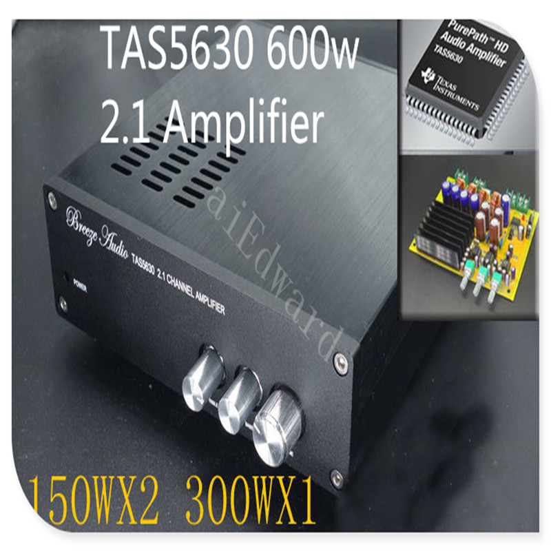 Compact type 600w High Power TAS5630 2.1 digital stereo Subwoofer audio amplifier , bass 300W mini amplifier (Excluding power) new the wind tas5630 2 1 home audio power amplifier 150wx2 300wx1 g3 006