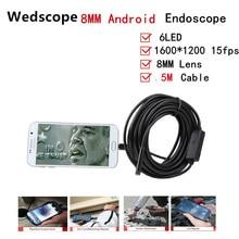 Endoscope 8MM 5M USB Endoscope Android OTG PC USB Endoscopio Mini Endoscope Camera 720P Inspection Waterproof Phone Mini Camera