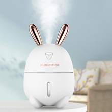 led Night Light Lamp with 300ML Air Humidifier Rabbit Ultra-Silent USB Aroma Purifier Diffuser Car