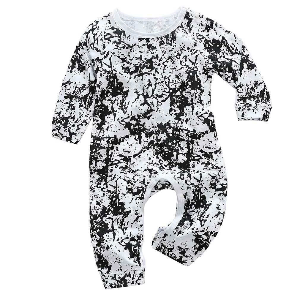 Hip Hop Newborn Toddler Infant Baby Girls Print   Romper   Letter Jumpsuit Clothes Long Sleeve Baby Boys   Rompers   Cool