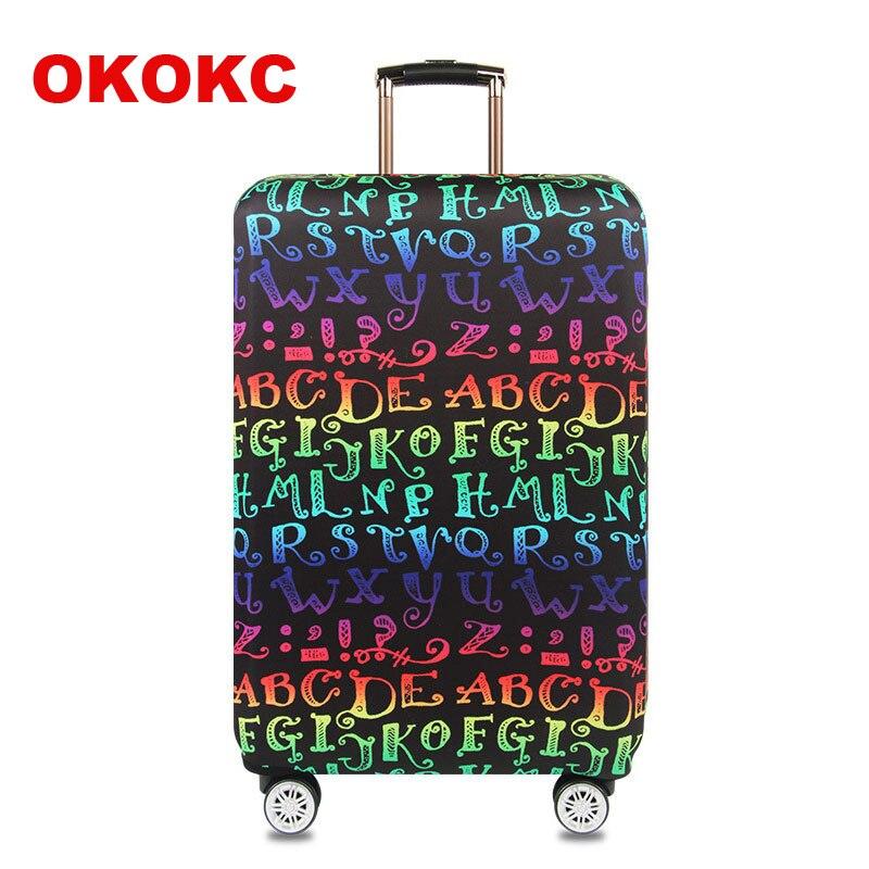 OKOKC Цвет буквы упругие толстые дорожного чемодана защитный Чемодан крышка применить к 18 -32 чемодан случае, дорожные аксессуары