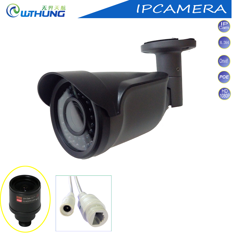 ФОТО Freeshipping to Russia 1.3MP 960P 2.0MP 1080P HD Network IP Camera 2.8-12mm Manual Zoom POE monitor CCTV Camera ONVIF 2.0 P2P