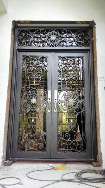 Aliexpress Buy Custom 1600mm X 2600mmwrought Iron Doors Front Doors Iron Entry Doors From Reliable Iron Entry Door Suppliers On Shanghai