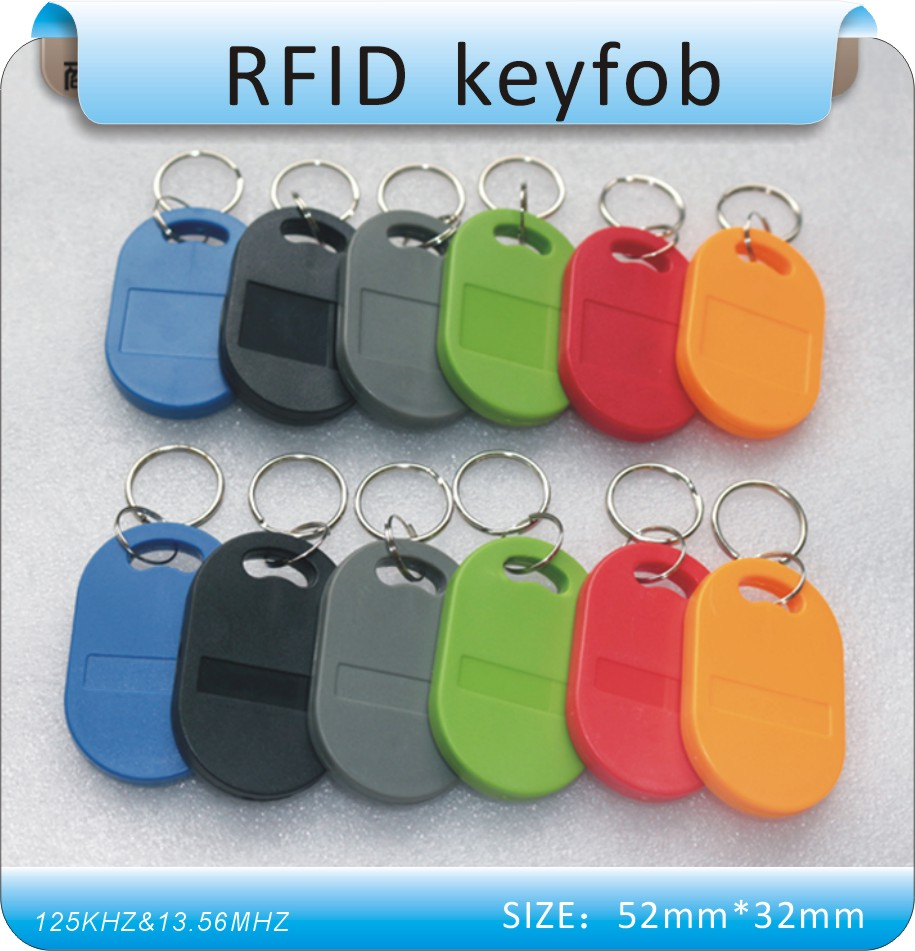 50pcs /125Khz&13.56MHZ Double Working Frequency  RFID Keyfobs For Access Control Time Attendance