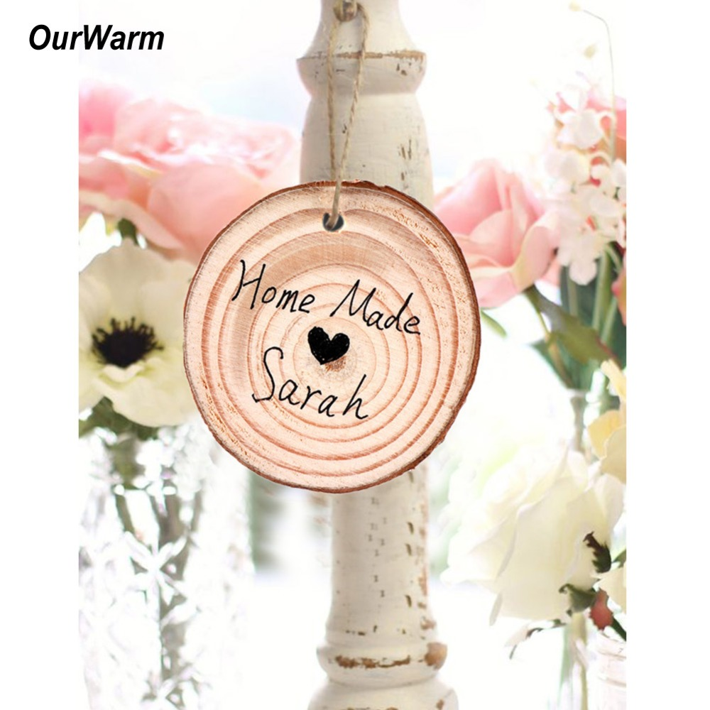 Party Decor Hanging Ornaments Wedding Supplies Wooden Slice Wood DIY Crafts