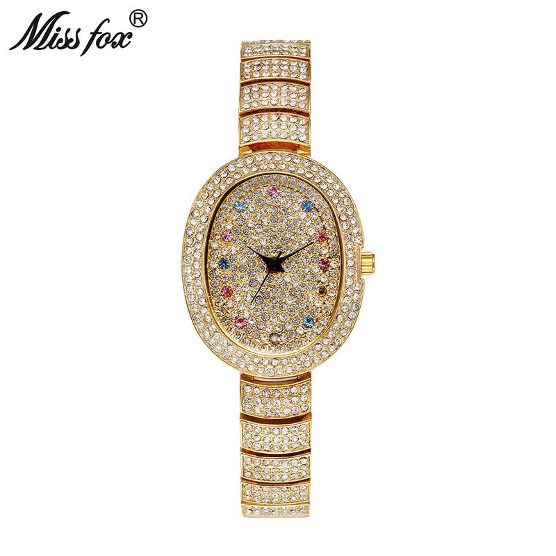 Miss Fox New Austria Crystal Minimalist Business Watches Women Fashion Watch 2018 Brand Full Diamond Woman Small Quartz Watch matisse lady austria full crystal dial