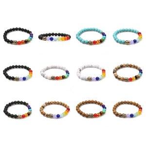 Image 5 - OAIITE 7 Chakra Gold Buddha Lose Weight Bracelets For Women Men Natural Stone Beads Jewelry Chakra Bracelet Yoga Prayer Therapy
