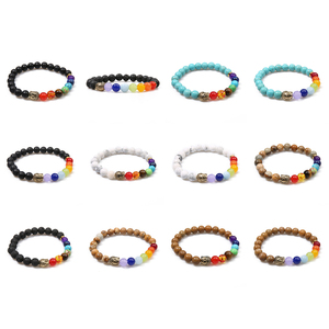 Image 5 - Oaiite 7 Chakra Gouden Boeddha Afvallen Armbanden Voor Vrouwen Mannen Natuursteen Kralen Sieraden Chakra Armband Yoga Gebed Therapie