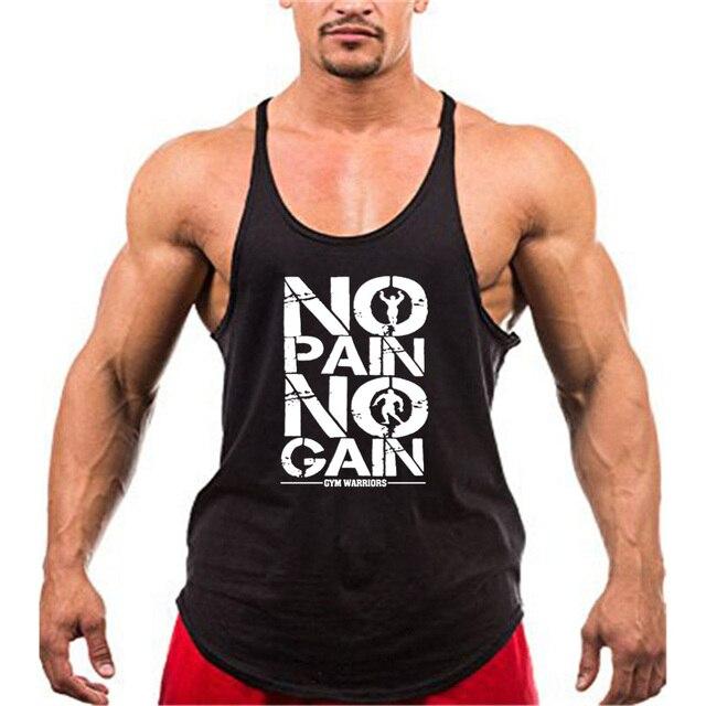 New Arrivals Bodybuilding stringer tank top man Cotton Gym sleeveless shirt men Fitness Vest Singlet sportswear workout tanktop 5