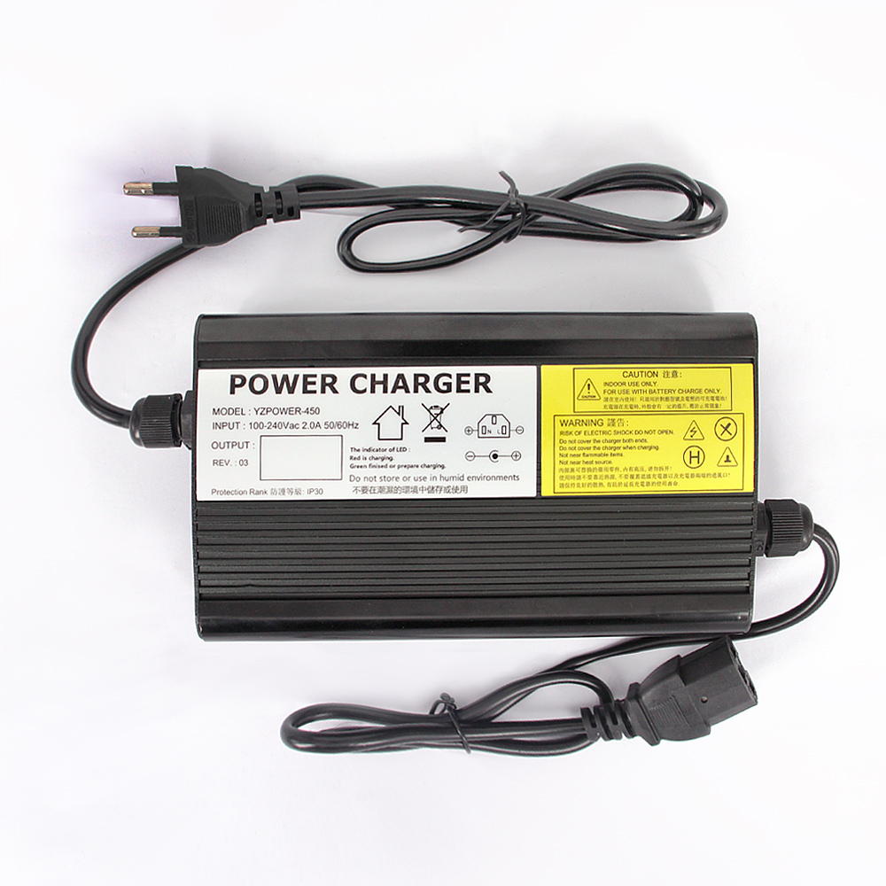 YZPOWER Auto Stop 4 2V 20A 19A 18A 17A 16A Lithium Battery Charger For 3 7V