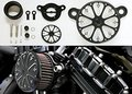 Cromo negro Reina Del Filtro de Aire para 2004-2014 Harley Sportster XL 883 1200
