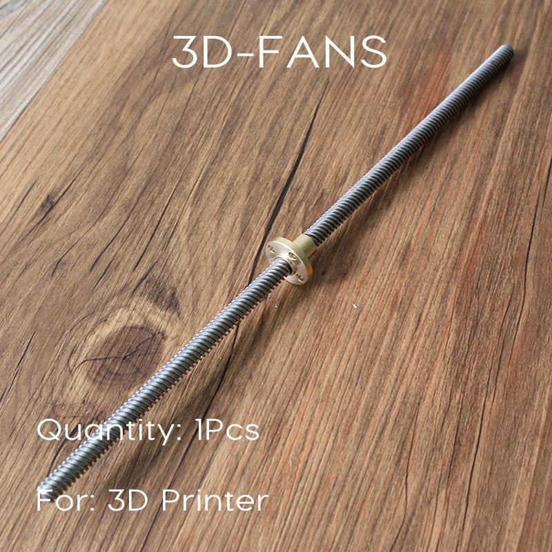 1pcs RepRap 3D Printer THSL 350 8D Thread 8mm Length 350mm with Copper Nut T type